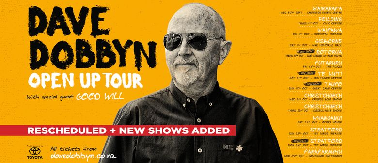 Dave Dobbyn – Open Up Tour